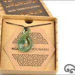 Authentic greenstone koru twist pendant