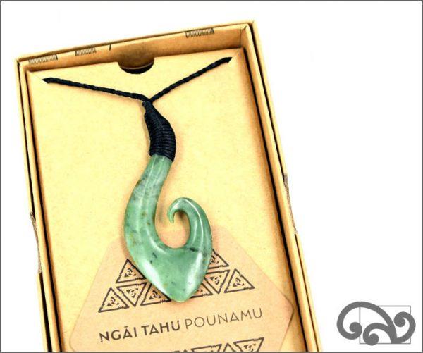 Authentic greenstone matau pendant