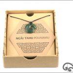 Authentic dark greenstone koru pendant for baby