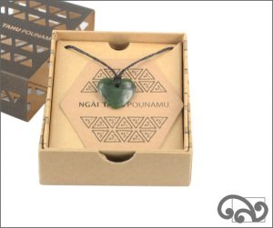 Authentic greenstone manawa pendant