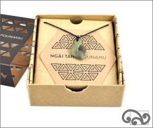 Authentic greenstone kumara pendant for baby