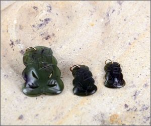 Greenstone stylished tiki pendants