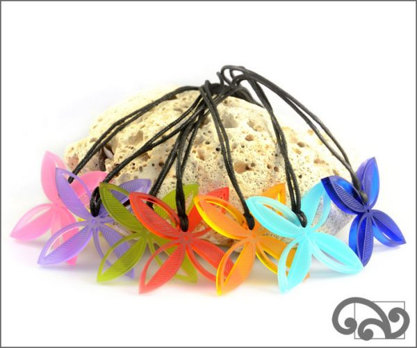Frangipani pendants