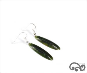 Greenstone drop earrings