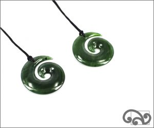 Small greenstone koru pendants