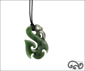 Frosted manaia pendant