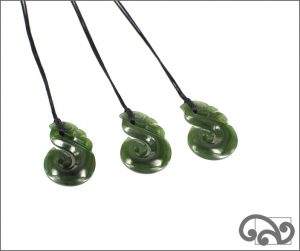 Greenstone necklace with small manaia