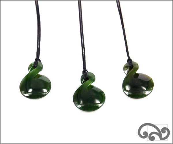 Greenstone single twist pendants