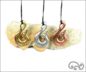 Fishhook zinc pendants