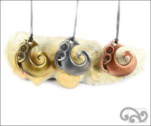Manaia fishhook zinc pendants
