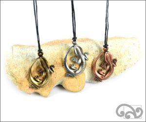 Tuatara zinc pendants