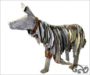 Corrugated iron dog