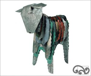 Corrugated iron lamb