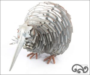 Galvanised iron sawblade kiwi