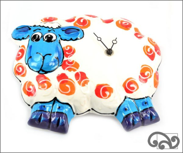 Ceramic sheep clock