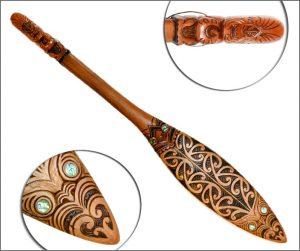 Large Maori paddle