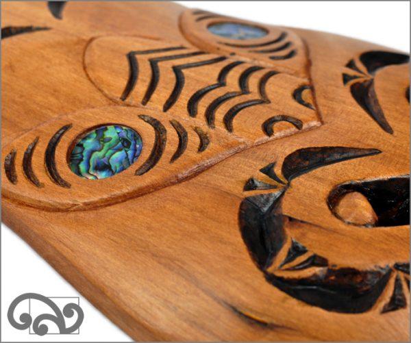Maori tu mask, close-up