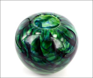 Glass bush bowl