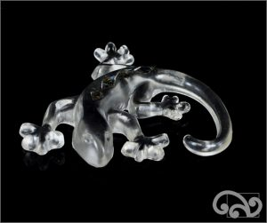 Clear glass gecko