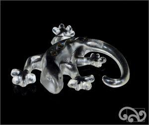 Clear glass gecko