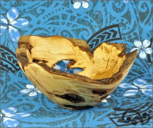Olive tree burl bowl