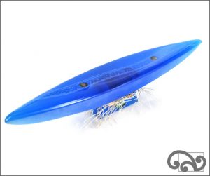 Large glass canoes shiny finish