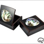 Black gift box with paua
