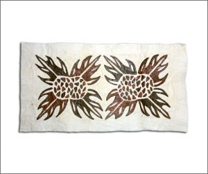 Double Samoan tapa cloth