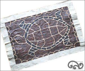 Turtle Samoan tapa cloth