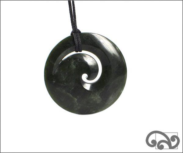 Large greenstone koru pendant