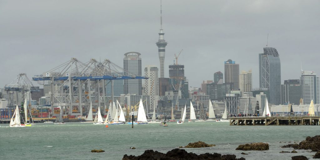Yachts and Auckland city