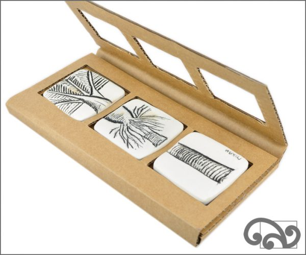 white touchstones with packaging