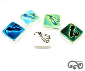 Kowhai ceramic touchstones