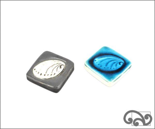 paua shell ceramic touchstones