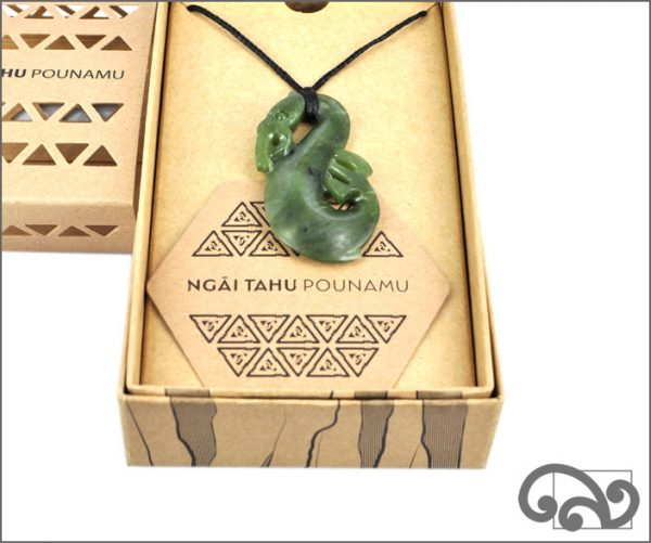 Authentic pounamu manaia pendant