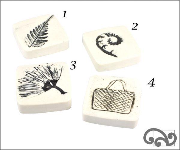 White ceramic touchstones