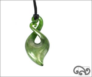 Beautiful greenstone twist pendant