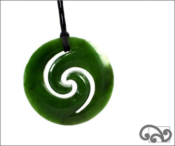 Large double koru pendant