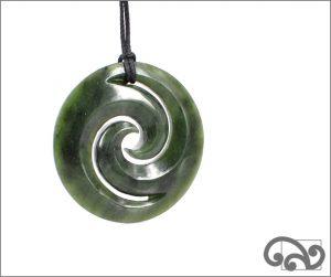 Large double koru pendants