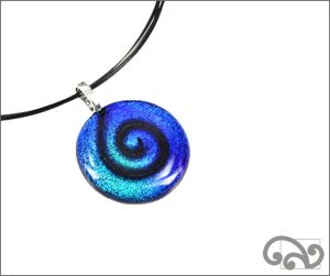 Koru glass pendant