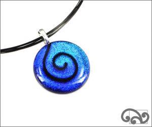 Koru dichroic glass pendant