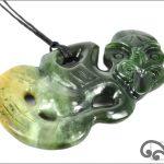 Large greenstone tiki pendants