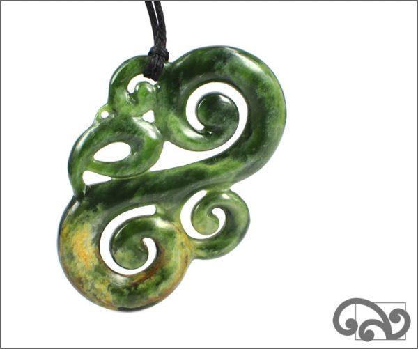Large greenstone manaia pendant