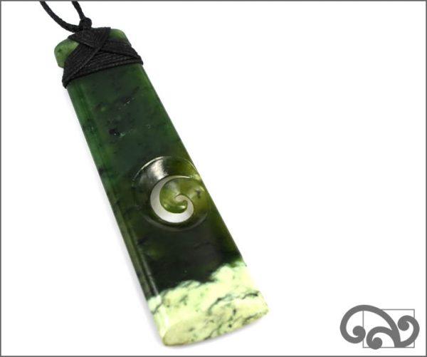Long greenstone adze single koru