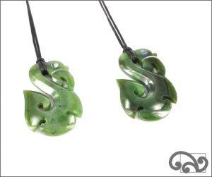 Greenstone manaia pendants