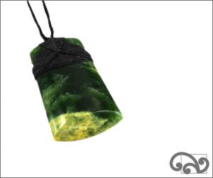 NZ greenstone adze pendant